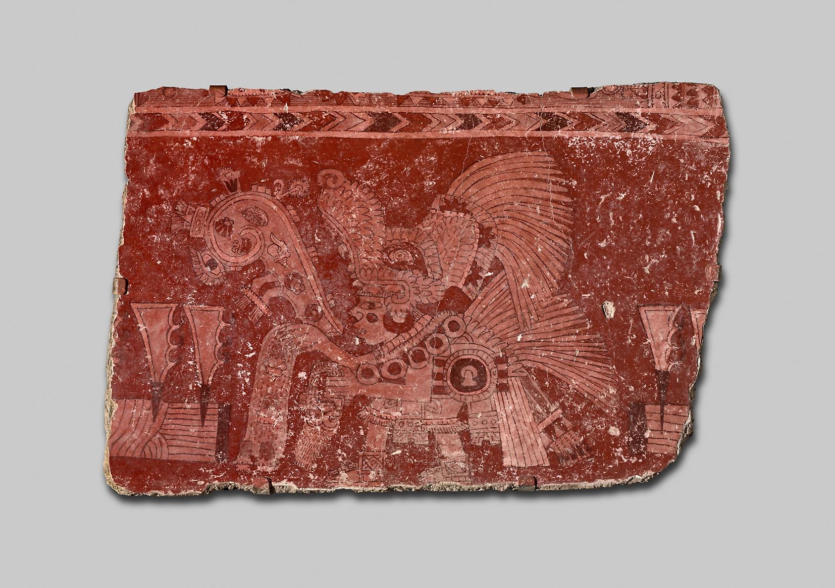 Mural Fragment Representing a Ritual of World Renewal