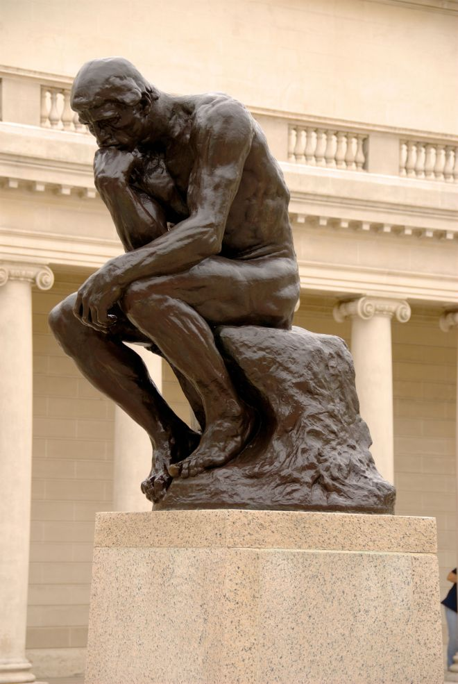 The Thinker, by Auguste Rodin, at the California Palace of the Legion of Honor